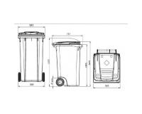 Мусорный контейнер БУ на 240 литров