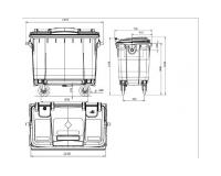 Контейнер для мусора на 360 литров