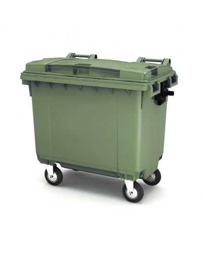 Пластиковый мусорный контейнер на 1100 литров